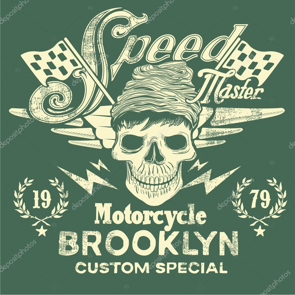 Speed Master Motorcycle Vintage Design