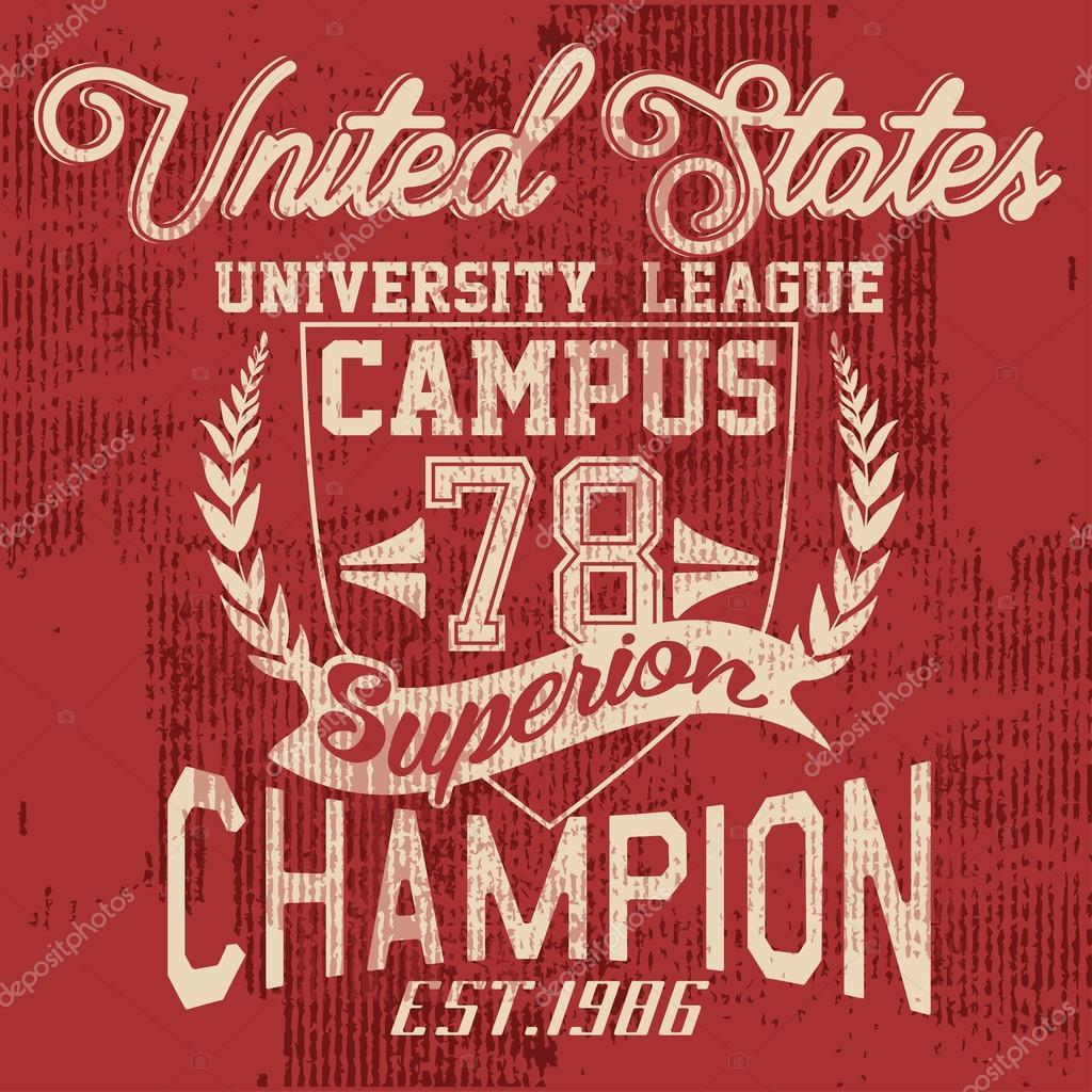 United State University League typography