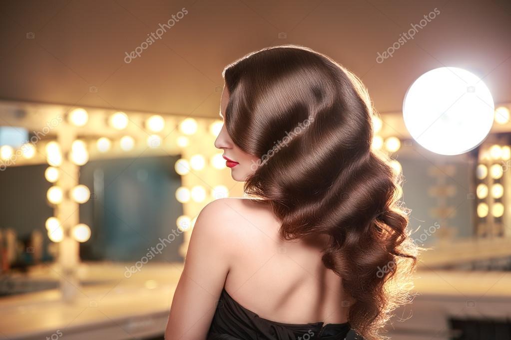 Длинные волосы сексуальные со спины