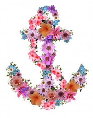 floral anchor print for t-shirt