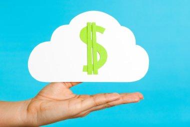 Cloud computing concept hand