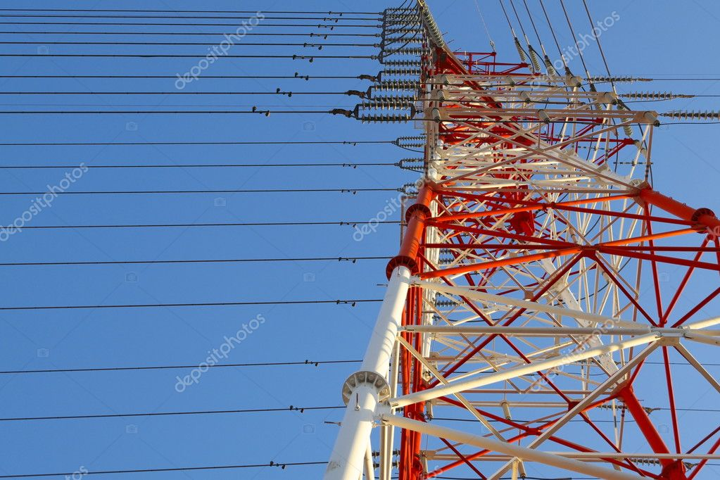 Multi color Electric Pole — Stock Photo © toptodown #105334230