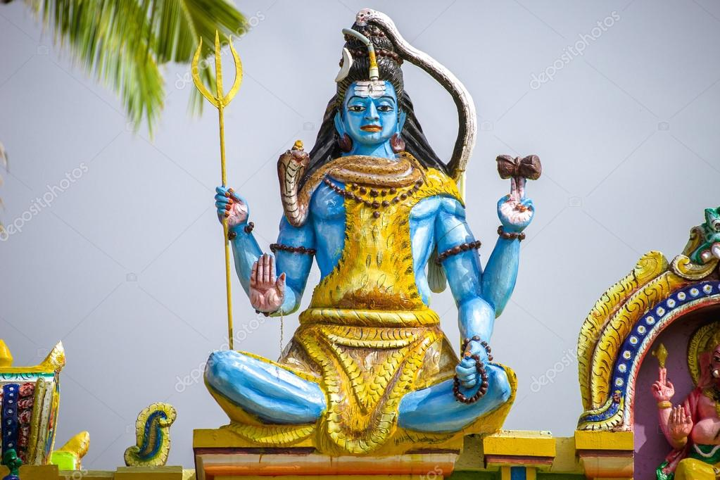 The image of lord shiva at the roof of indian hinduism temple the image of lord shiva at the roof of indian hinduism temple voltagebd Image collections