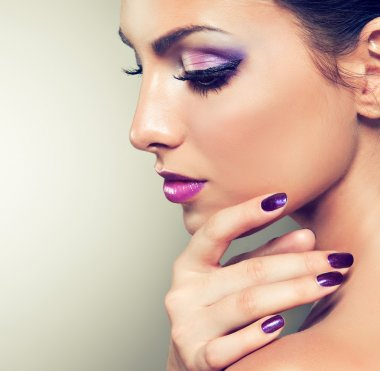 beautiful female model with perfect manicure