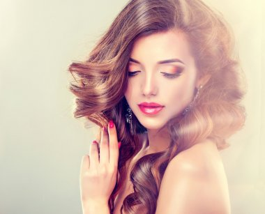 female model with fashion make-up