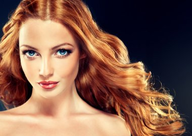 Redhead woman with healthy hair