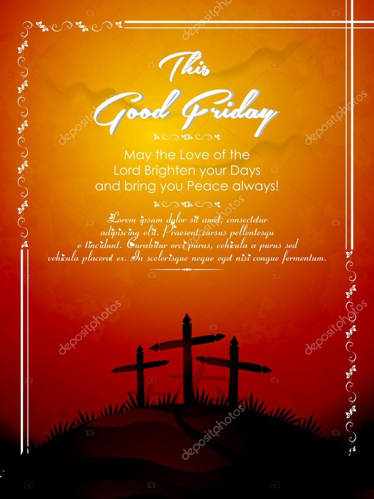 Beautiful vector abstract for Good Friday with creative background. clipart vector