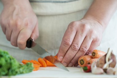 Chef Chopping Carrots