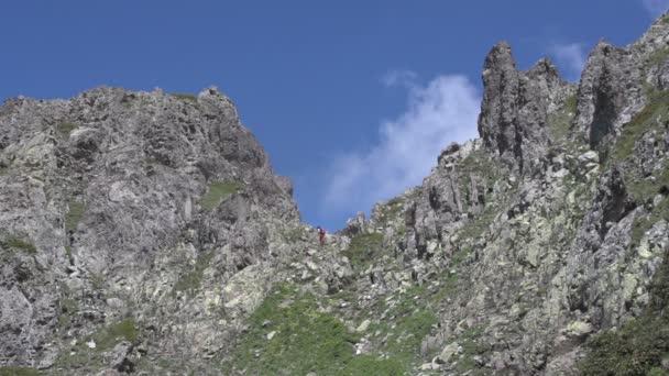 Backpacker Hiking in nature