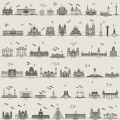 Photo vector line city set collection