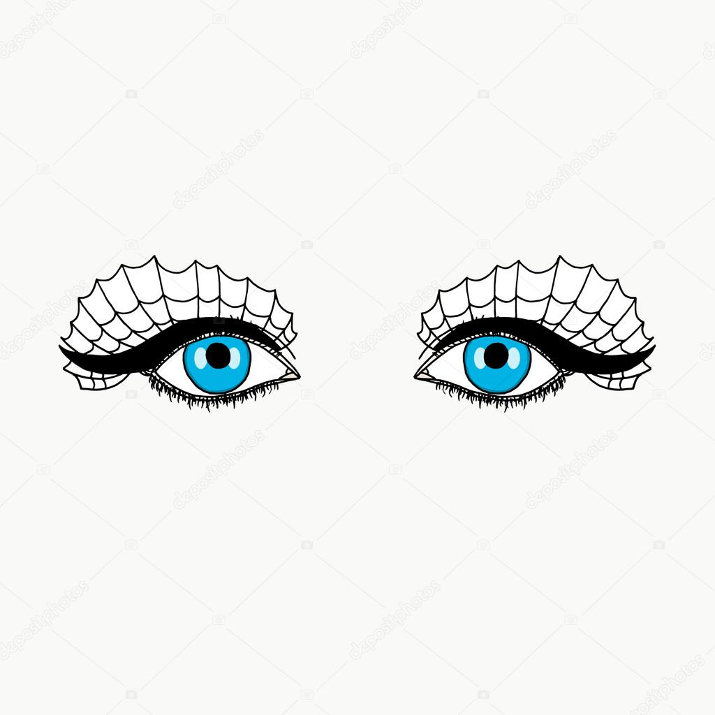 Eyes On White Background Makeup On Halloween Eye Makeup For