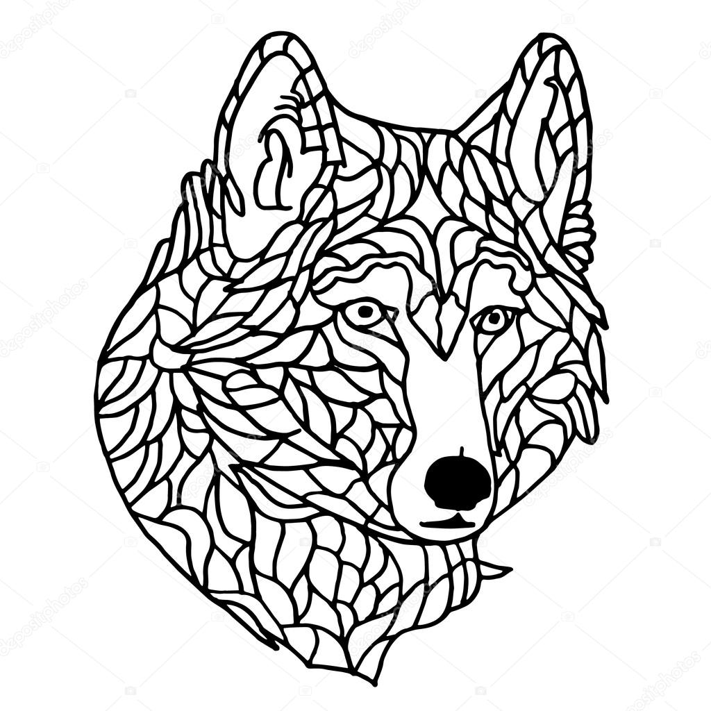 Stock Illustration Wolf On White Background Wolf on Snow 1 3 Inches