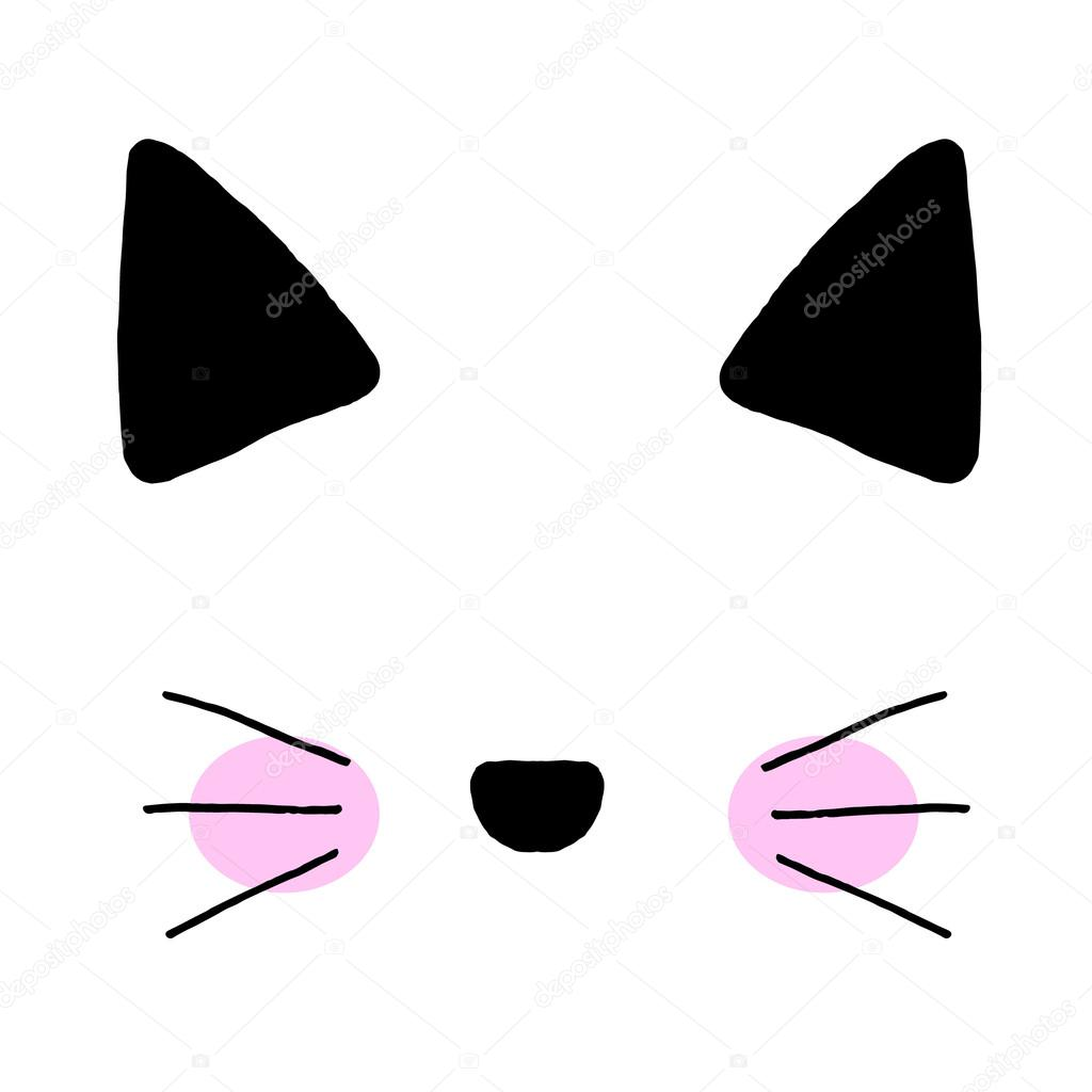 cat on a white background cat printcat graphiccat