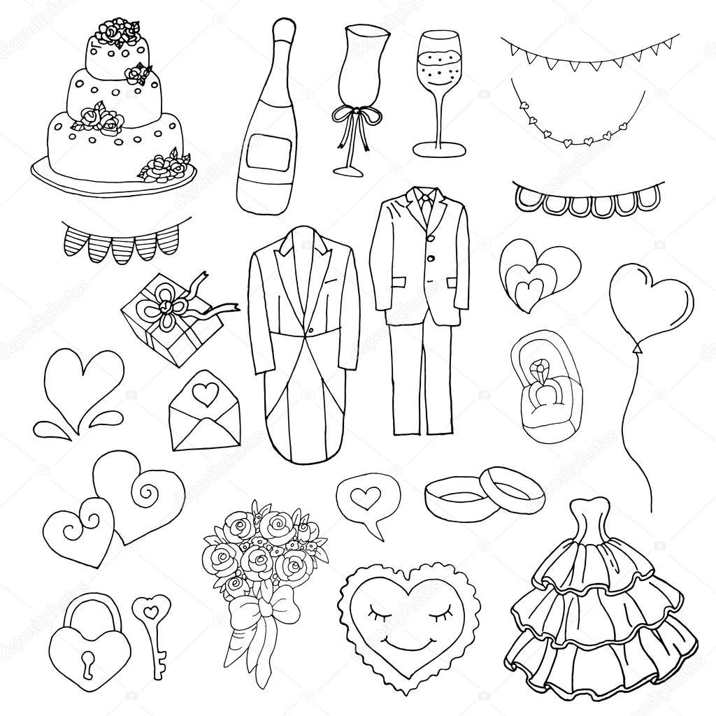 Wedding Set Wedding Poster Wedding Card Wedding Vector Wedding