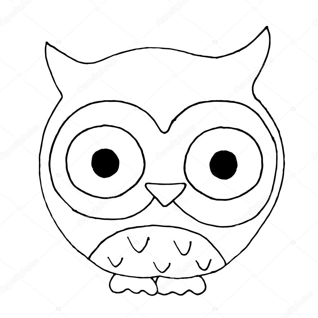 Owls On A White Background Owls On A White Background Owl