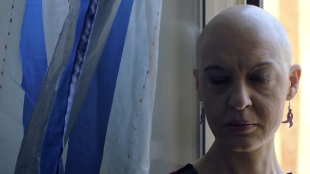 osamělosti ženy s rakovinou: portrét, nemoci, strach, chemoterapie