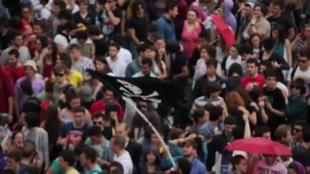 portrét v davu během koncertu