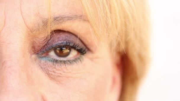 Eye of a mature woman