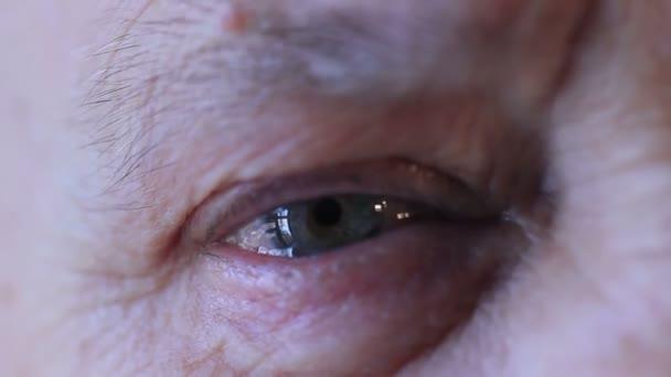 detail of Old woman eye
