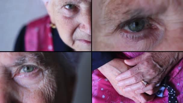 Starší žena s serózní vzhled