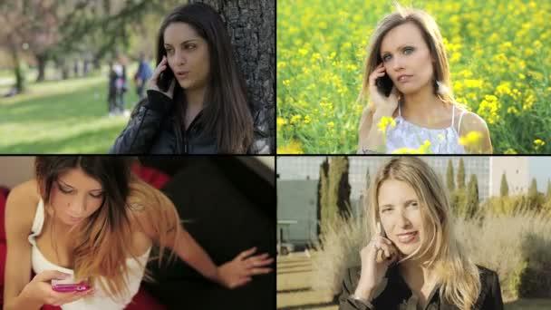 Montage: Frauen mit Smartphones oder Handys