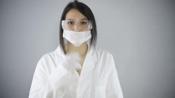 young brunette scientist