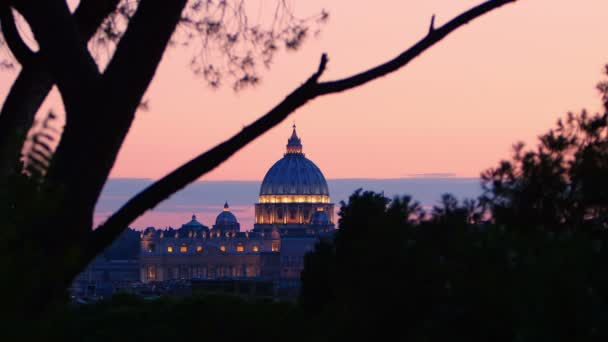 St. Peters Basilica at the sunset