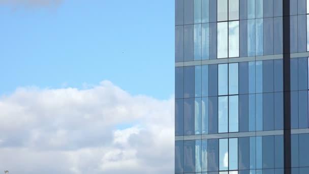 glass wall of a skyscraper