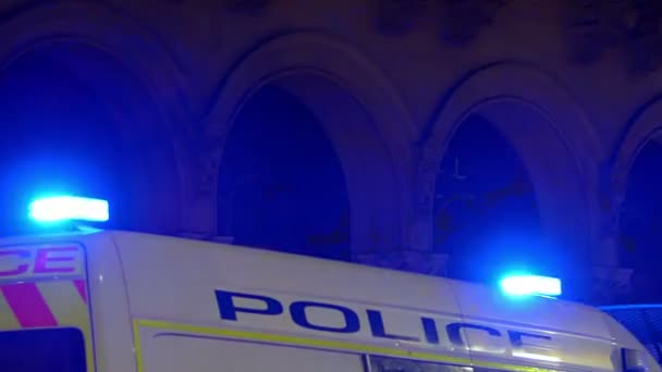 Police Lights in dark city