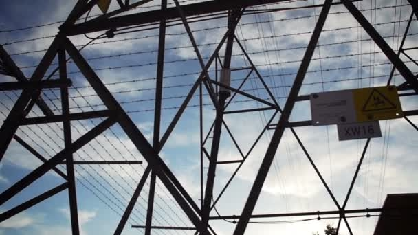 Electrical pylon in an industrial city