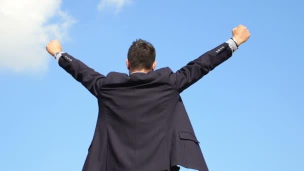 podnikatel se raduje pro úspěch