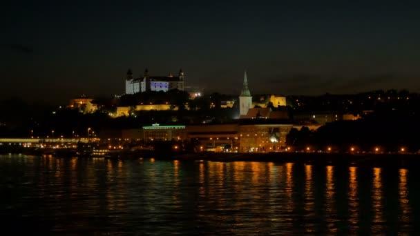 Suggestive night view of bratislava