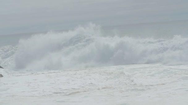 big wave that breaks the sea- slowmotion