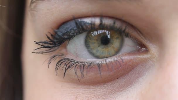 zelené oko mladé ženy