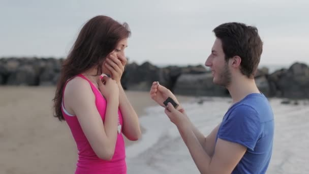 Man declaring his love to a woman