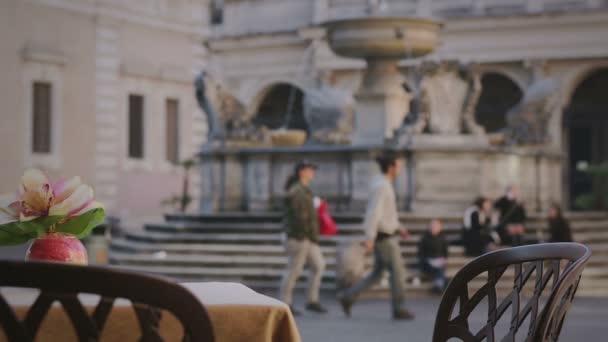 fontána v piazza santa maria v trastevere v Římě