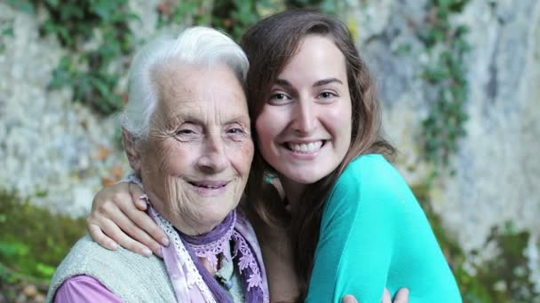 Women portrait with happy grandmother and granddaughter smilingshowing love