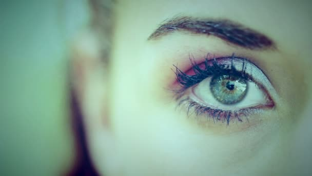 young womans eye
