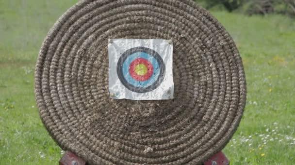 arrow shooting in archery target