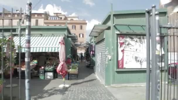 open-air market in rome - steadycam