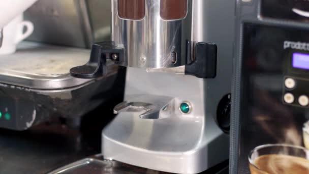making coffee espresso , pressure of the coffee