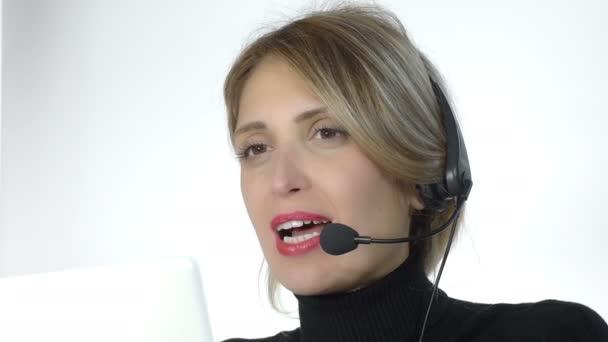 beautiful call center operator
