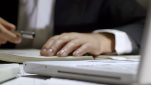 Hard Work For Tired Businessman Stock Footage