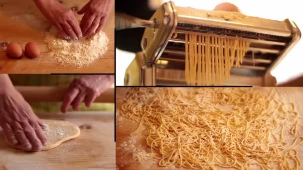 Žena připravuje domácí těstoviny