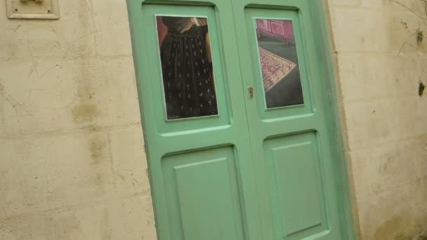 údaje starých domů v centru Matera, Itálie