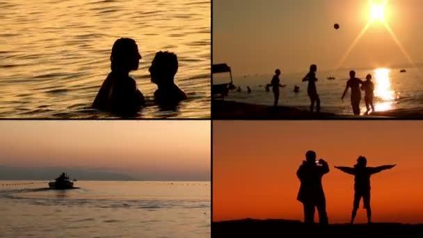romantiku a krásu moře při západu slunce v létě - složení