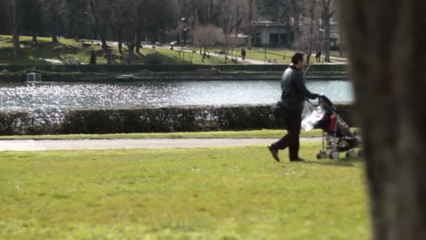 baby carriage in the park