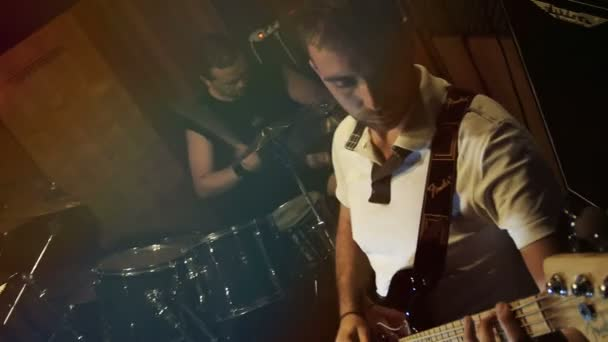 rock band playing music: sound, drums, bass guitar, electrical, song, musician