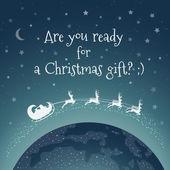 Karácsonyi üdvözlőlap - készen állsz egy karácsonyi ajándék