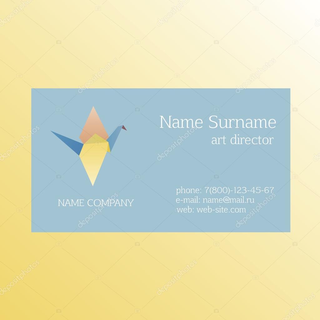 Business card Origami — Stock Vector © VI6277 #98429662